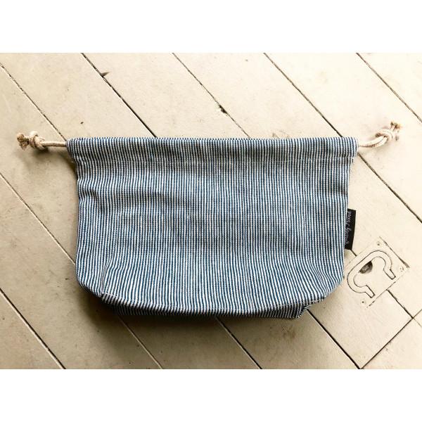 Projektbag Blå-vit-randig