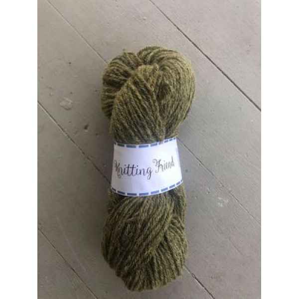 Mossgrön, Sockgarn handfärgade naturfärger